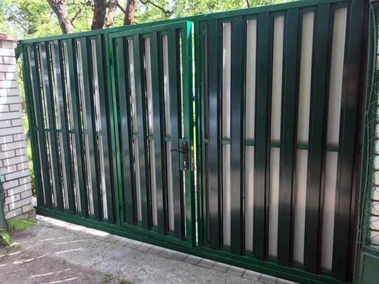 Откатные ворота штакетник